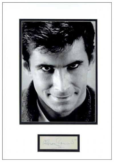 Anthony Perkins Autograph Signed Display - Psycho